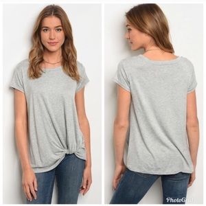 Knotted front, jersey t-shirt